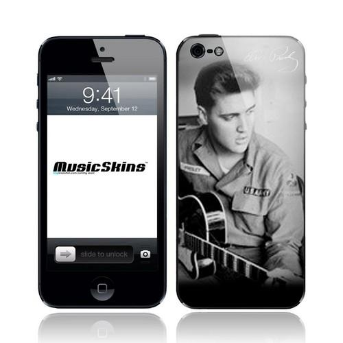 Music Skins Elvis Presley Guitar Protective Skin for Apple iPhone 5/5S/5C