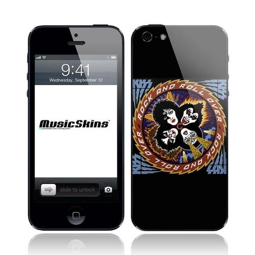 Music Skins Kiss Rock & Roll Over Protective Skin for Apple iPhone 5/5S/5C