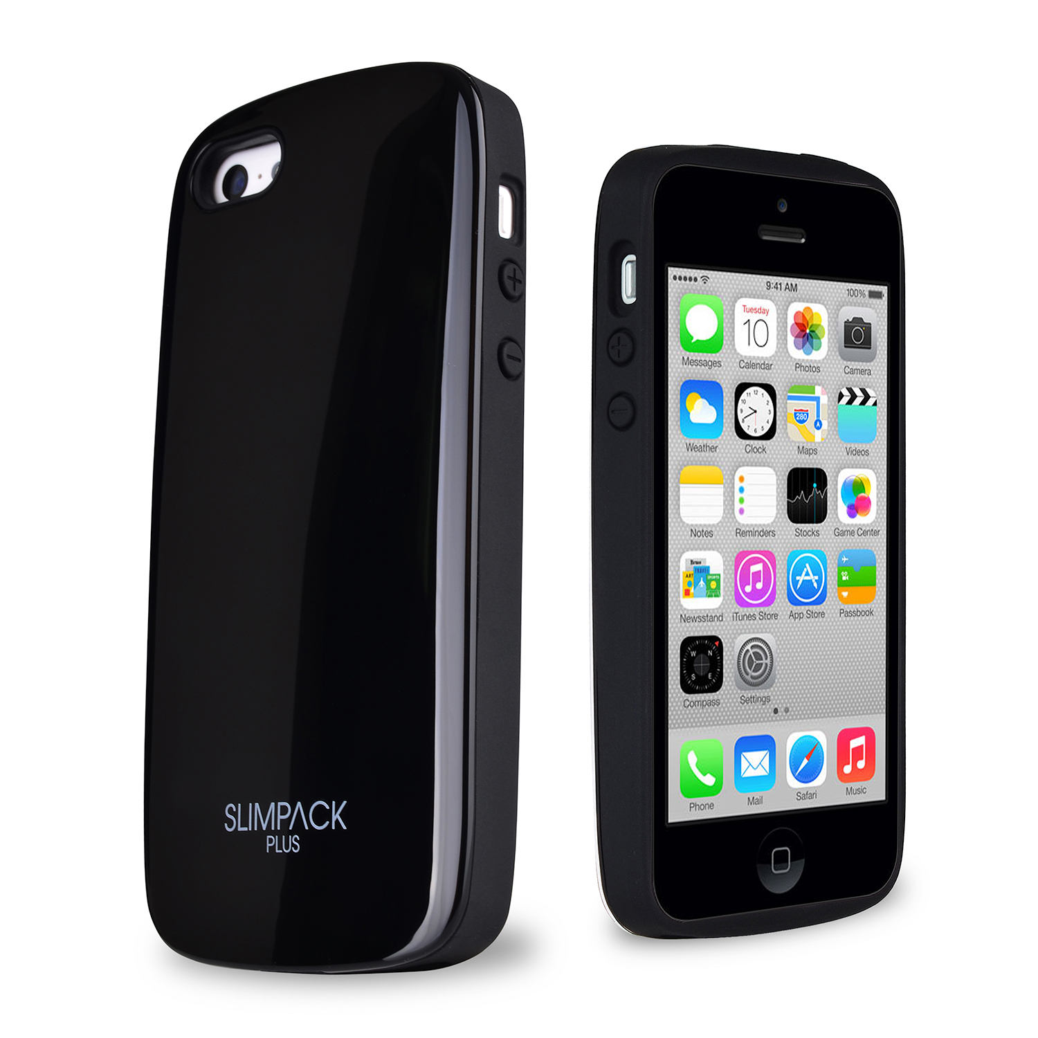 SLIMPACK® Premium Plus™ iPhone 5C Case w/ Hidden Card Slot [Black]