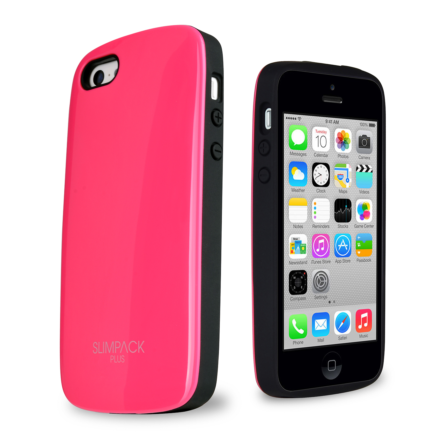 SLIMPACK® Premium Plus™ iPhone 5C Case w/ Hidden Card Slot [Hot Pink]