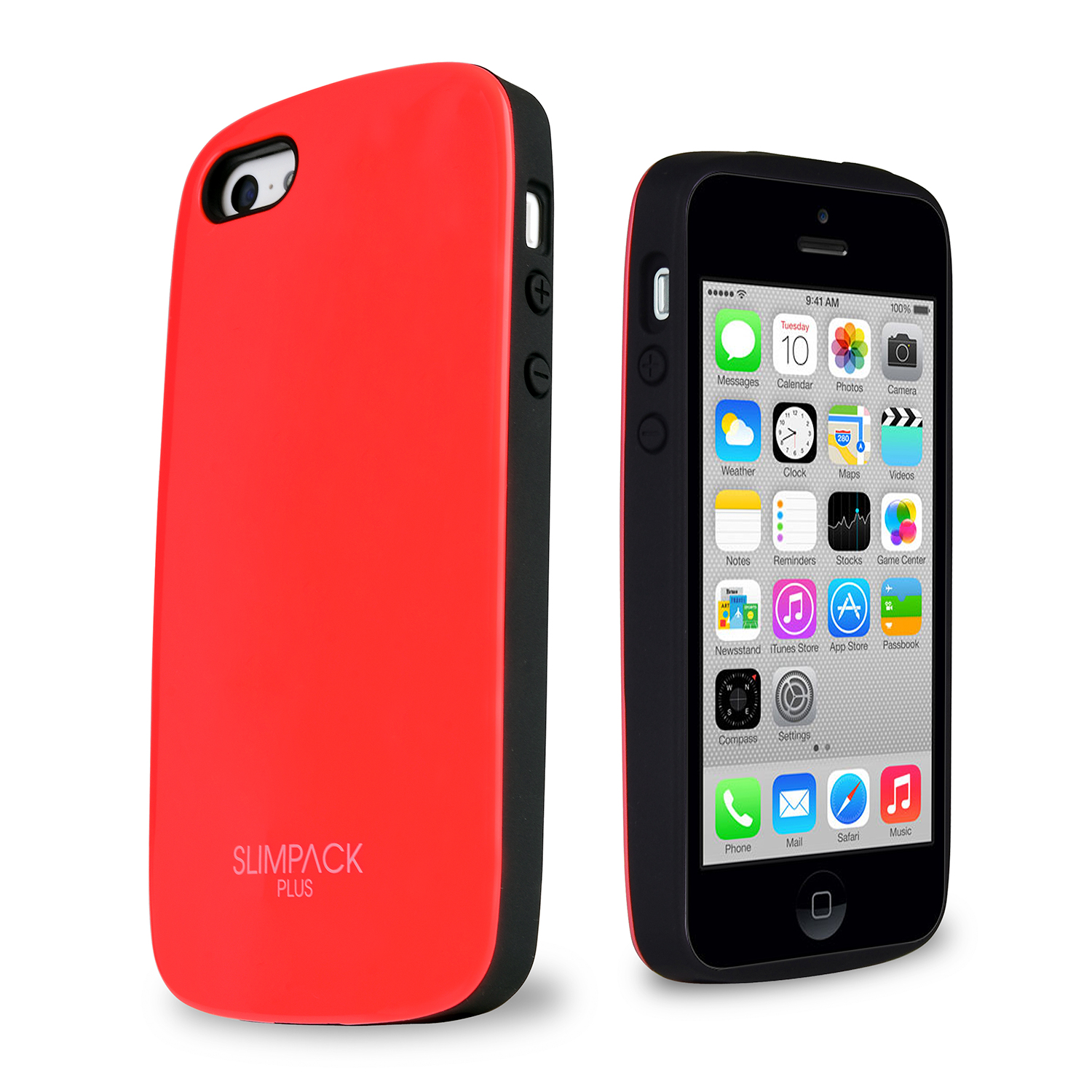 SLIMPACK® Premium Plus™ iPhone 5C Case w/ Hidden Card Slot [Red]