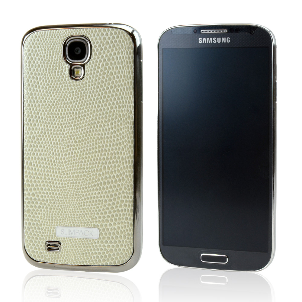 Slimpack Cream White [IVORY] Samsung Galaxy S4 leather textured battery door case