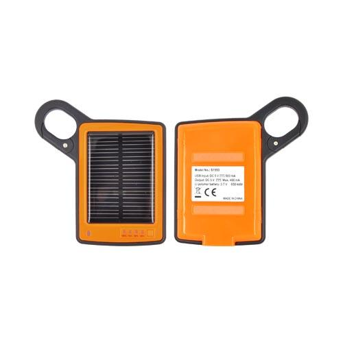 Solar Power Charger w/ 10 Connectors Including iPhone, Micro USB, & Mini USB - Orange/ Black