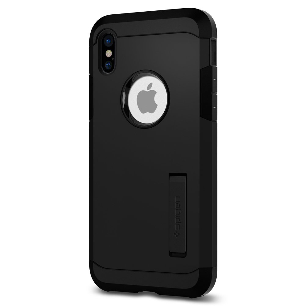 Made for [Apple iPhone X / XS 2018] Tough Armor Case, [Black]Hybrid Case W/ Kickstand, Extreme Heavy Duty Protection, Air Cushion Technology by Spigen