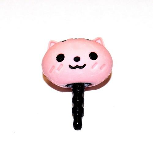 3.5mm Headphone Jack Stopple Charm - Cute Pink Squirrel