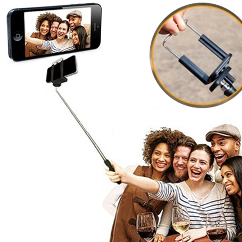 Durable Handheld Extendable Self-portrait Monopod Selfie Stick (attachment head sold separately)