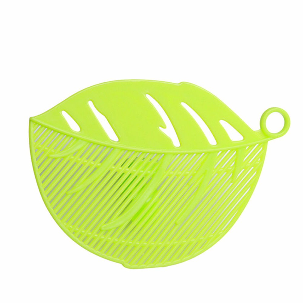 Clip-On Strainer, [Green] Leaf Shaped Drainer for Pasta, Rice, Beans, Grapes and More! - Fits Most Pots & Bowls!