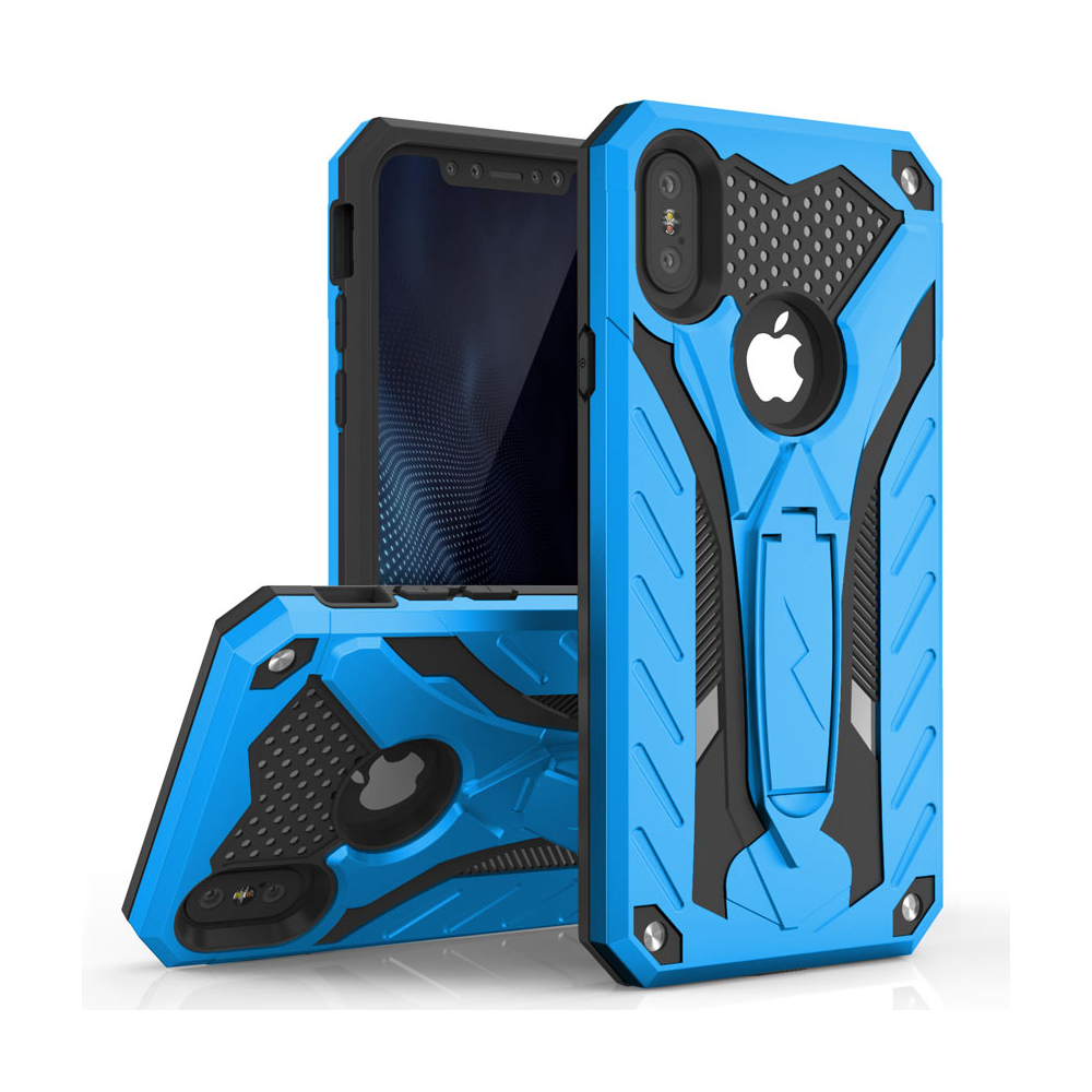 Made for [Apple iPhone X / XS 2018] Case, STATIC Dual Layer Hard Case TPU Hybrid [Military Grade] w/ Kickstand Shock Absorption [Blue/ Black]