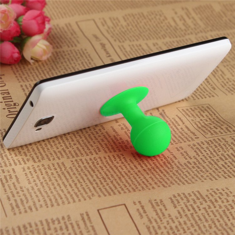 Portable Cell Phone Silicone Suction Ball Stand Holder - Green