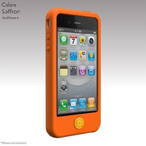 Original SwitchEasy Apple iPhone 4 Colors Silicone Case, SW-COL4-O - Saffron