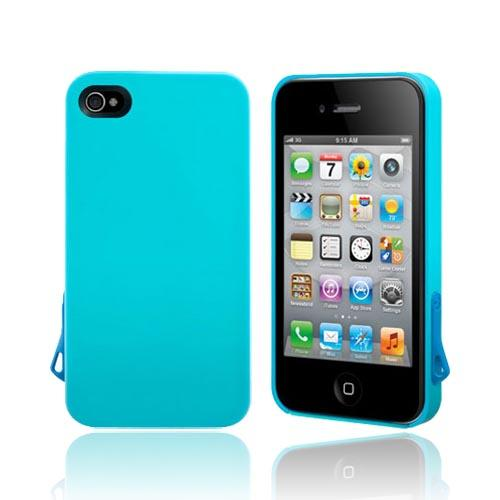 Original SwitchEasy AT&T/ Verizon Apple iPhone 4, iPhone 4S Lanyard Hard Case w/ Screen Protector & Lanyard Attachment, SW-LAN4S-BL - Turquoise