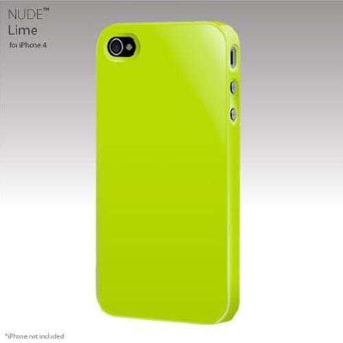 Original SwitchEasy Apple iPhone 4 Nude Slim Case, SW-NUI4-L - Lime