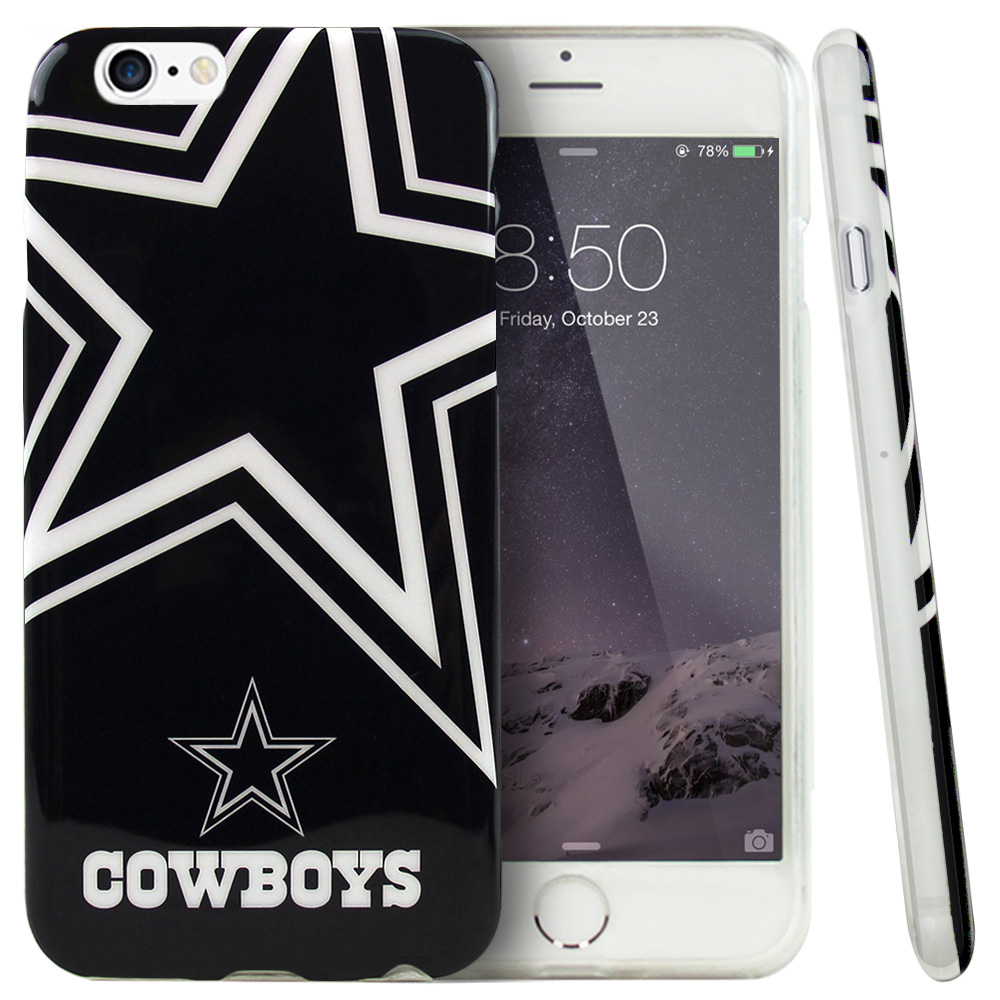 Apple iPhone 6/ 6S Case, NFL Licensed [Dallas Cowboys]  Slim & Flexible Anti-shock Crystal Silicone Protective TPU Gel Skin Case Cover