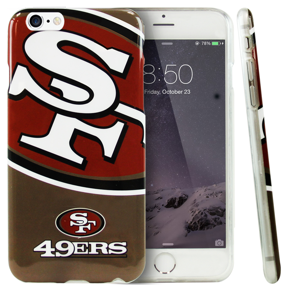 Apple iPhone 6/ 6S Case, NFL Licensed [San Francisco 49ers]  Slim & Flexible Anti-shock Crystal Silicone Protective TPU Gel Skin Case Cover