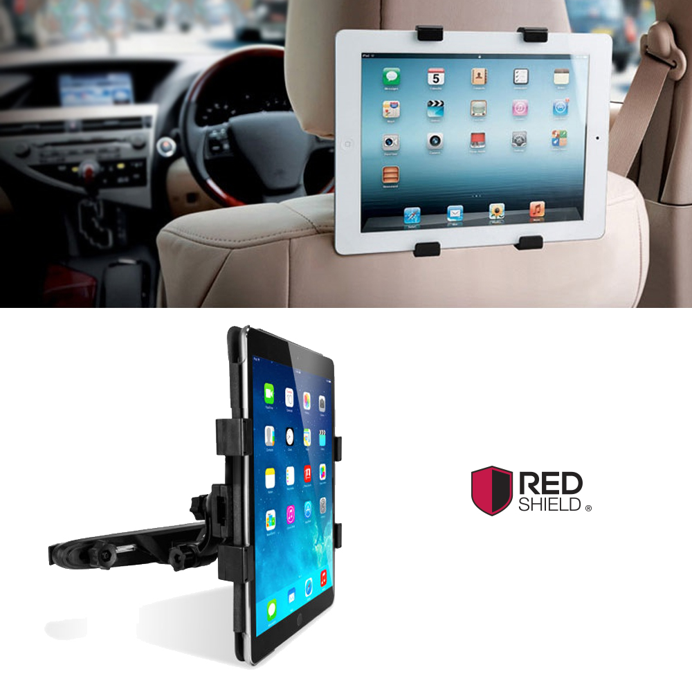 Redshield Headrest Car Mount Holder For Tablets, Tablet Car Seat Headrest