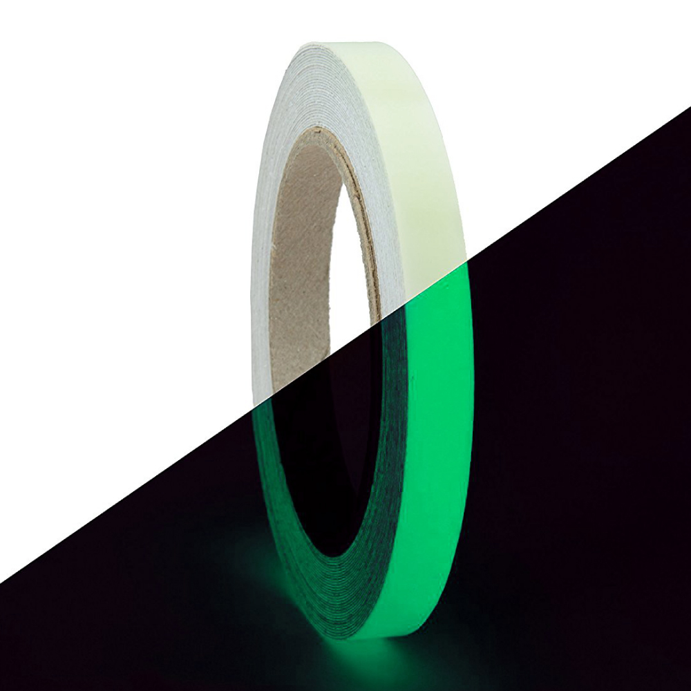 RED SHIELD Glow in The Dark Tape. Luminous & Fluorescent Self-Adhesive Sticker. Removable, Waterproof, Photoluminescent. for Decoration & Illuminating Objects at Night. [39.4 * 0.6 inches, Green]