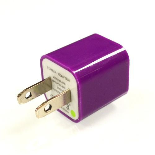 Purple USB Input Travel/ Home Wall Charger Adapter