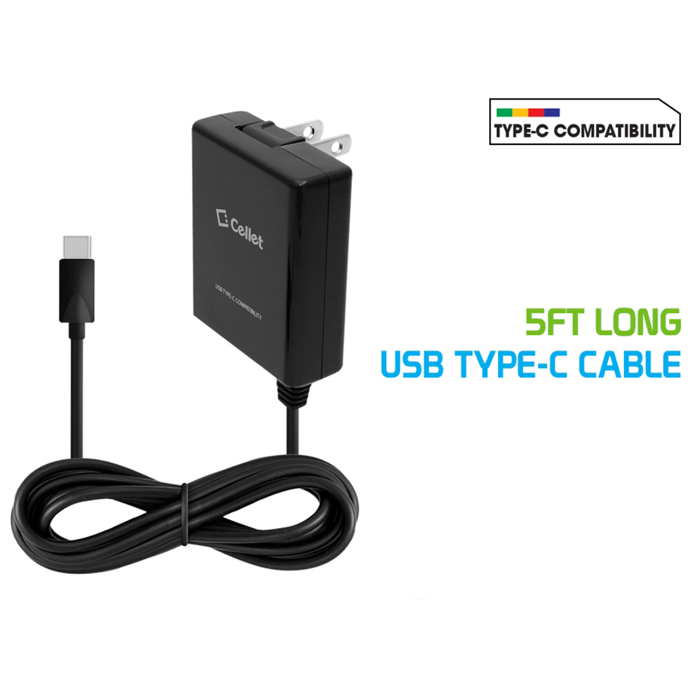 USB Type-C High Powered Home/ Travel Charger 15 Watt / 3 Amp [Black]