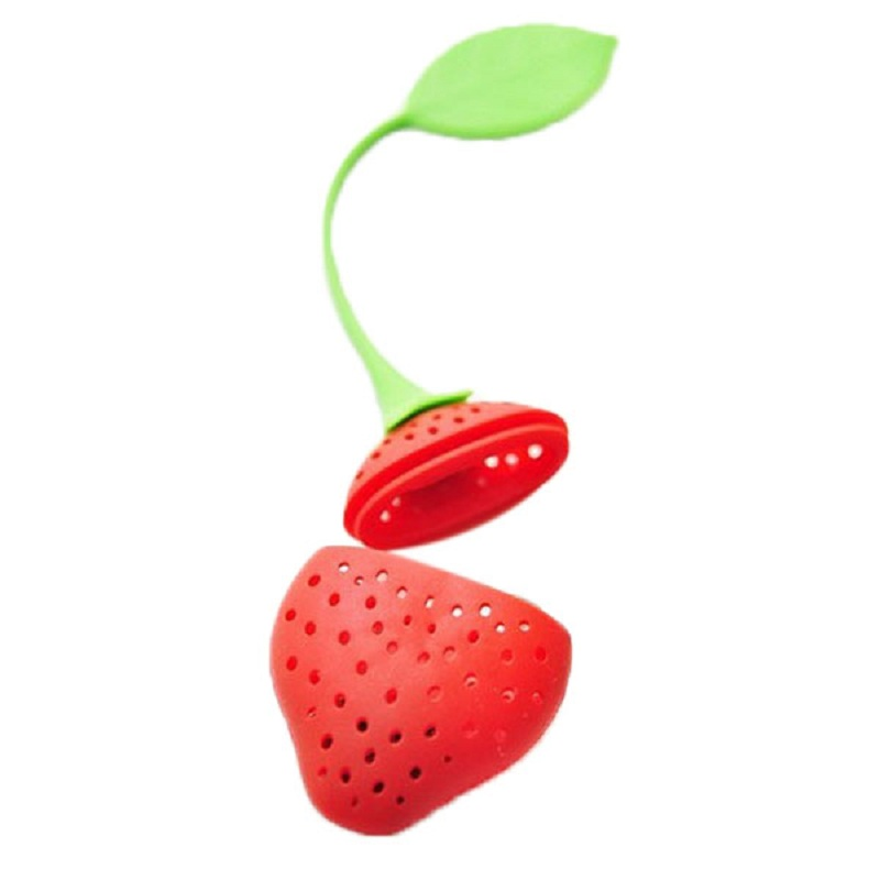 Red Strawberry Shape Tea Leaf Infuser