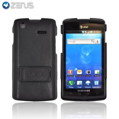 Original Zenus Samsung Captivate i897 Prestige Leather Case Bar Series w/ Stand - Black