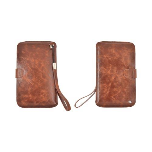 Original Zenus Samsung Galaxy Tab P1000 Pouch Series Leather Pouch - Classic Brown