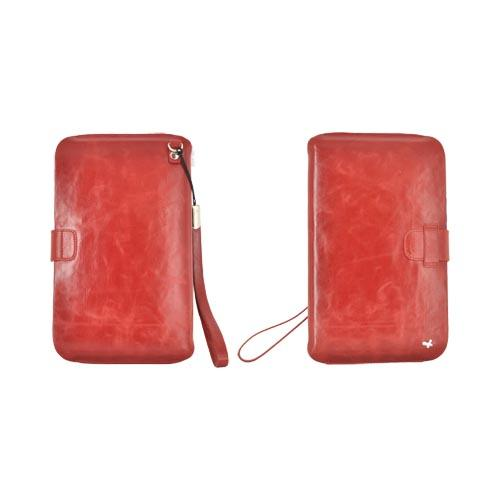 Original Zenus Samsung Galaxy Tab P1000 Pouch Series Leather Pouch - Vintage Red