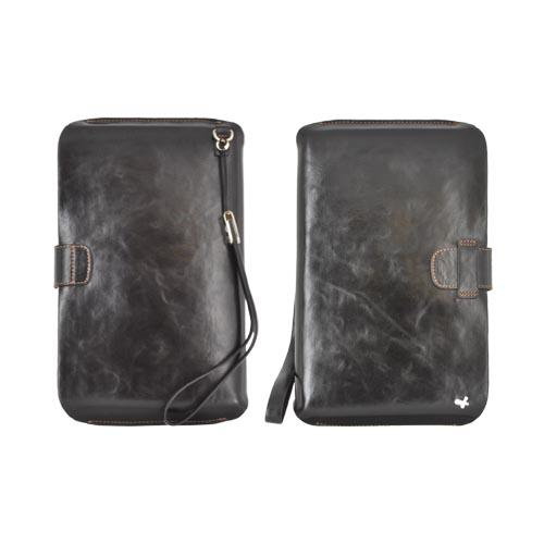 Original Zenus Samsung Galaxy Tab P1000 Pouch Series Leather Pouch - Black