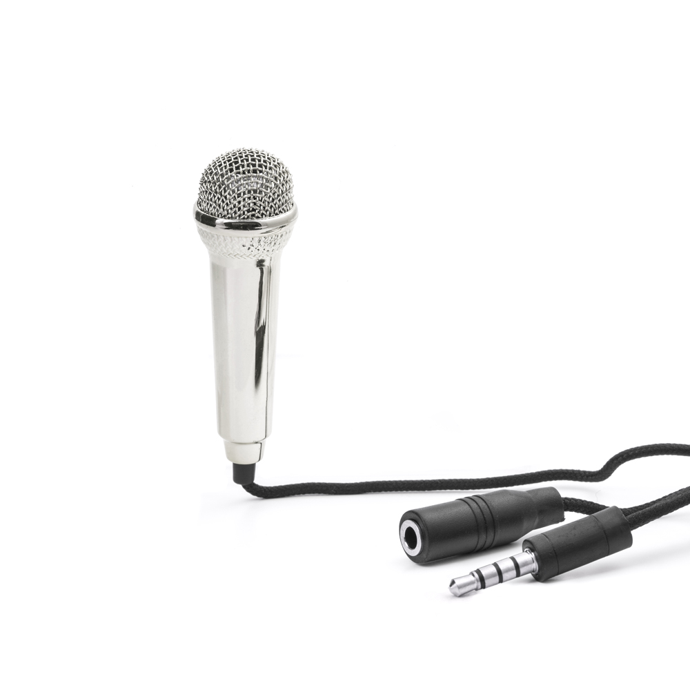 [Kikkerland] Karaoke Microphone, Mini Karaoke Microphone [3.5mm] - Set Up a Karaoke Party Wherever You Are!