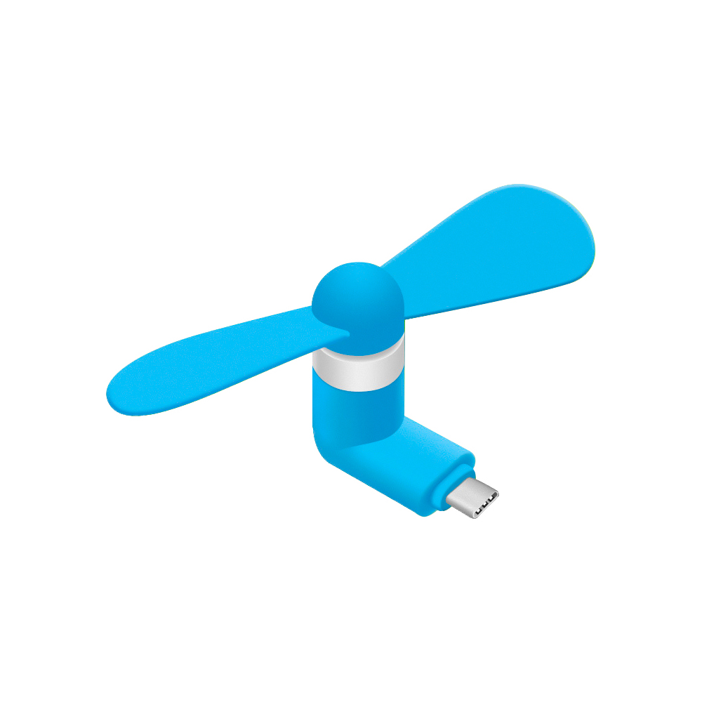 Portable USB Type-C Cooling Fan [Blue] - Use Your Phone [Samsung Galaxy S8/S8 Plus, LG G6, OnePlus 5 and MORE!] to Keep Cool!