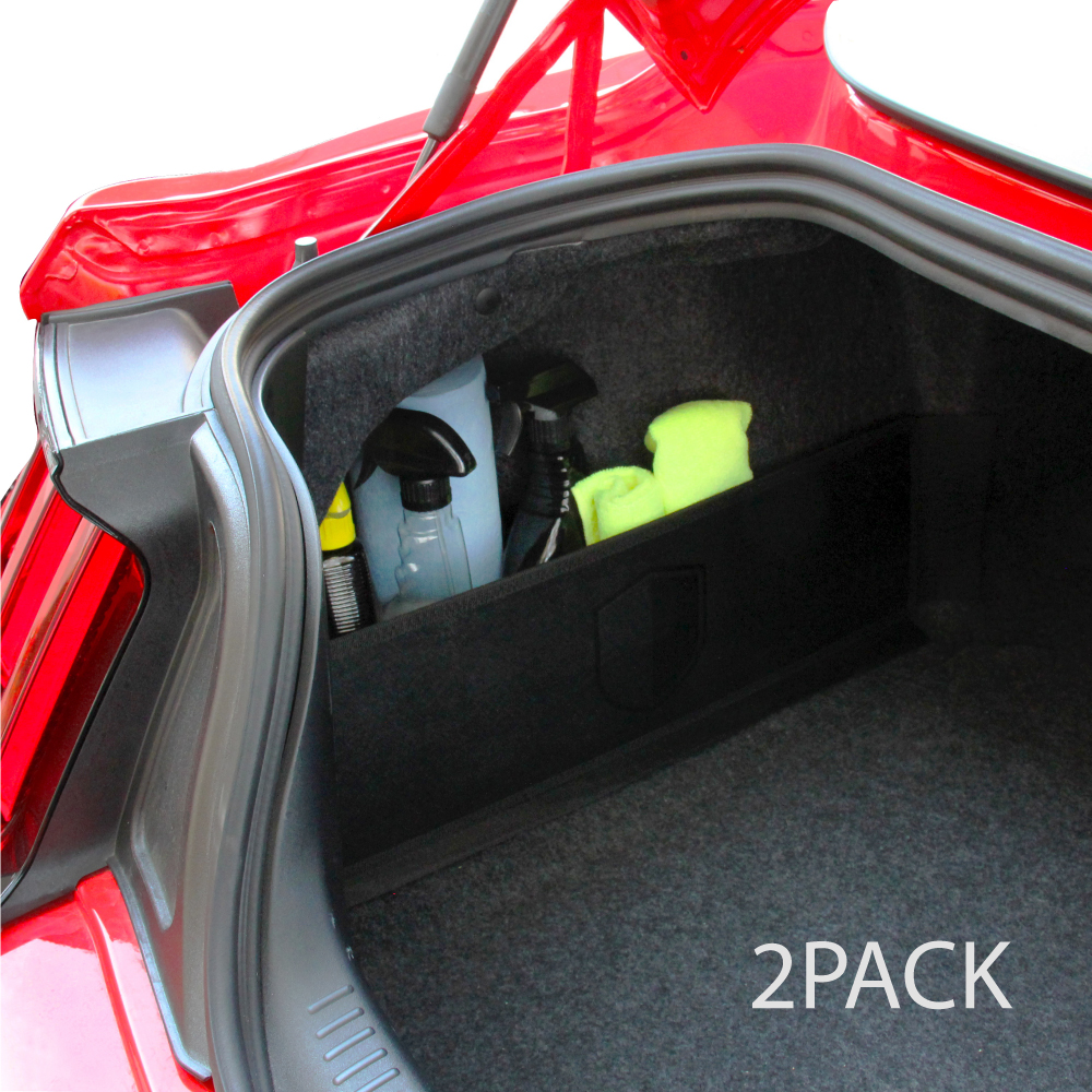 [REDshield] Multipurpose Auto Trunk Organizer for Car, SUV, or Minivan - [Black] 22.4 inches x 7.08 inches [2 Pack]