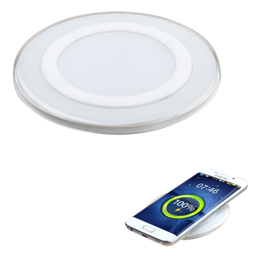 Wireless Charger, [White] Wireless Charger with Anti-Slip Rubber for Qi-Enabled Devices Like  Samsung Galaxy Note 8 and More!