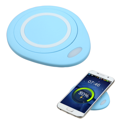 Wireless Charger, [Baby Blue] Wireless Charging Pad with Anti-Slip Rubber for Qi-Enabled Devices Like Samsung Galaxy Note 8 and More!