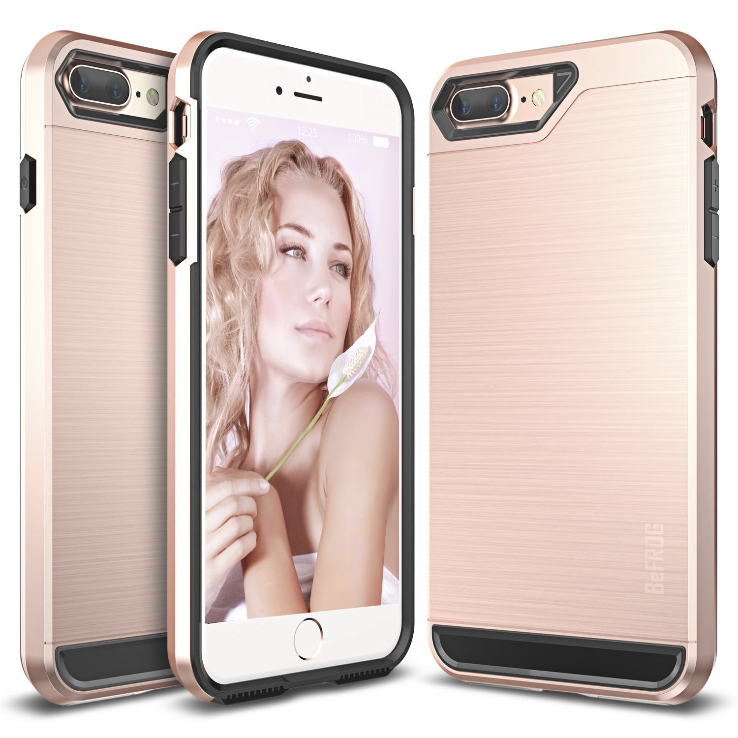 Apple iPhone 8/7/6S/6 Plus Case, BEFROG [Rose Gold] Dual Layer Drop Protective Case [Armor Case] PC + TPU Bumper Case