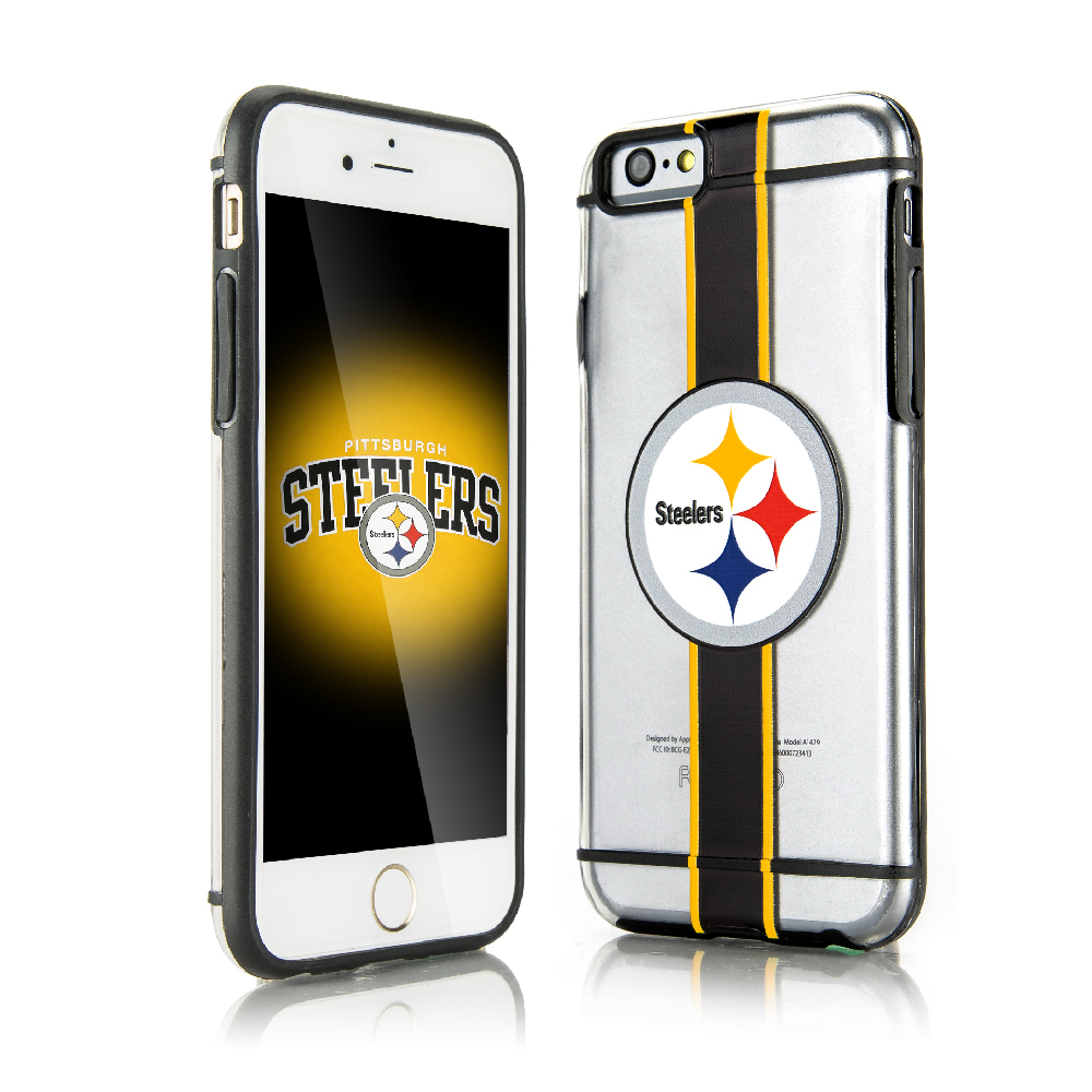Apple iPhone 6/6S (4.7 inch) Sports Case, [Pittsburgh Steelers] Hydroclear Ultra-Slim 3D UV Printed Textued Hard Back Case w/ TPU Border