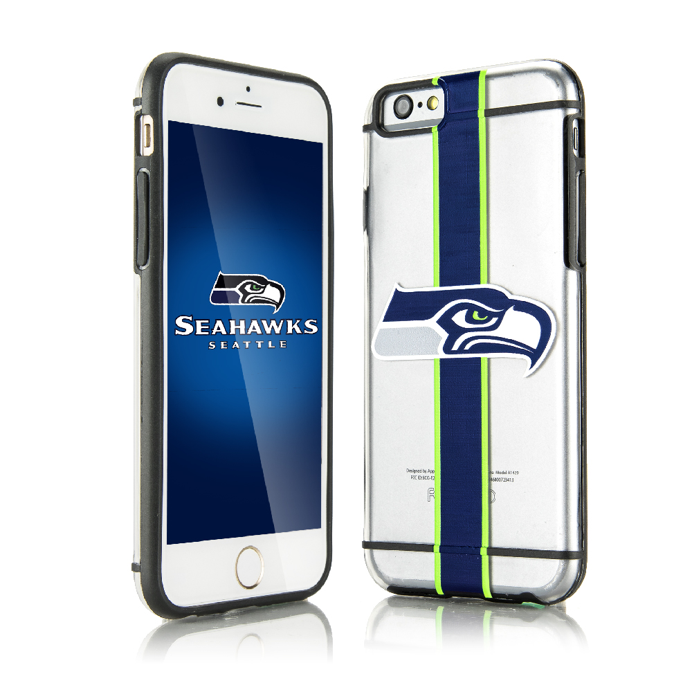 Apple iPhone 6/6S (4.7 inch) Sports Case, [Seattle Seahawks] Hydroclear Ultra-Slim 3D UV Printed Textued Hard Back Case w/ TPU Border
