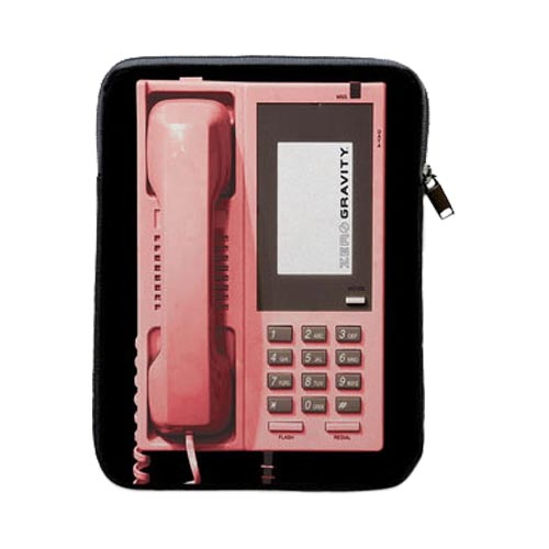 Zero Gravity™ Apple iPad (All Gen.) Nylon Sleeve [Pink Retro Phone]